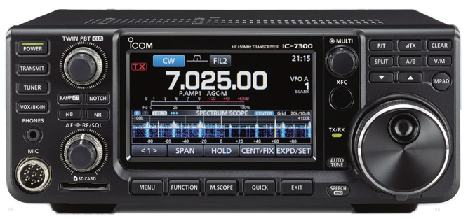 Icom IC-7300  HF/6m Transceiver. Click for IC-7700 Page.
