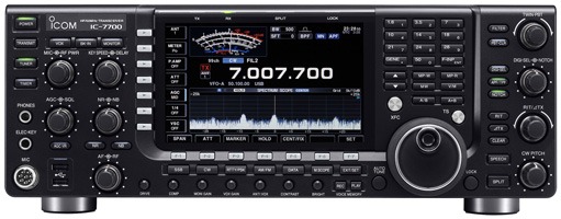 Icom IC-7700  HF/6m Transceiver. Click for IC-7700 Page.