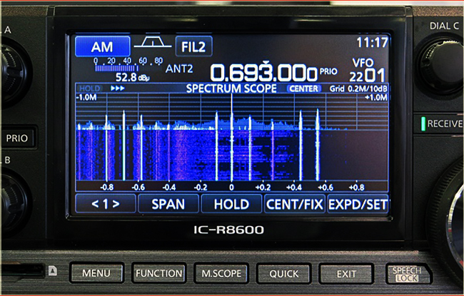 The new IC-R8600 Wideband SDR Receiver